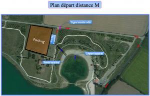 Distance M plan de départ