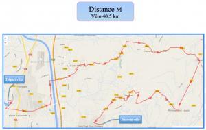 Distance m ve lo